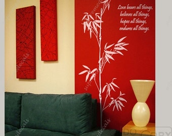 Oriental Bamboos -- 71inch tall -- Removable Vinyl Wall Art Decals Stickers for Home Decor
