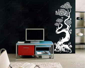 Magic Tree--Removable wall decals stickers wall art for kids' room