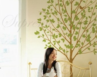 My little birch tree 65 inch tall -- Wall Art Home Decors Murals Removable Vinyl Decals Paper Stickers