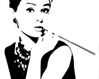 Audrey Hepburn-42inch H-Wall Art Home Decors Murals Removable Vinyl Decals Paper Stickers