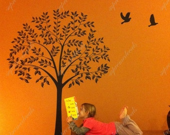 Linden Tree(57 inch high ) --- Wall Art Home Decors Murals Removable Vinyl Decals Paper Stickers
