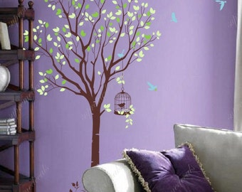Tree with flying birds- Vinyl Wall Decals, Stickers, Wall Murals