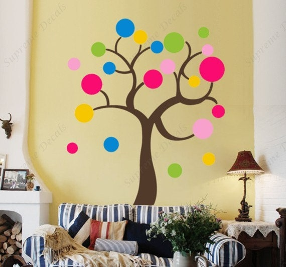 Items Similar To Colorful Circle Tree 43 Inch ---Wall Art