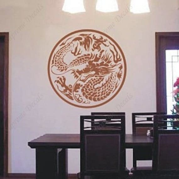 Dragon Wall Decal Animal Wall Stickers Viny Wall Art  Living Room Decals --Wall Art Home Decors Murals Removable Vinyl Decals Paper Stickers