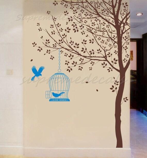 arbre papier peint mur amovible sticker par popdecorsprintarts. Black Bedroom Furniture Sets. Home Design Ideas