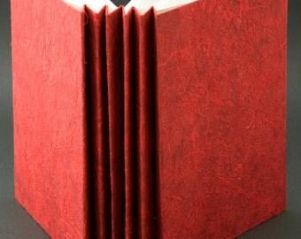 Red blank soft bound book
