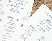 Wedding Programs - Flat Double Sided Design - Purple, Lavender - Custom Colors & Fonts Available