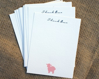Thank Ewe (You) Card Flats - Set of 20