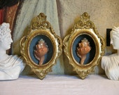 Florentine Sea Shell Display Set of Two