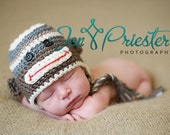 Neutral Monkey Hat - Perfect for Unisex Photo Shoots - Available in 6 sizes