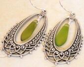 Modern Dangle Earrings in Silver, drop earrings, chandelier, free shipping, gift