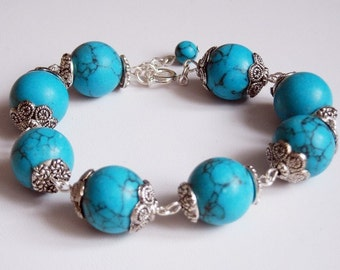Turquoise Splendor Bracelet, Friendship Bracelet, Jeans Bracelet, Gift