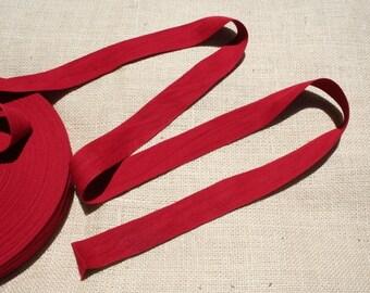 Red Twill Tape Trim Vintage Cotton Trim