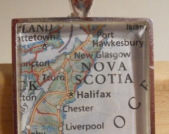 Nova Scotia Map Pendant