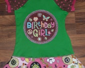 Birthday Dress size 3T short sleeve twirl skirt