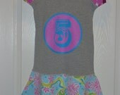 I'm 5... Upcycled dress size 5 short sleeve with twirl skirt