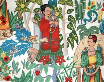 Frida Kahlo's Garden - Alexander Henry Scenes 1 Yard Fabric