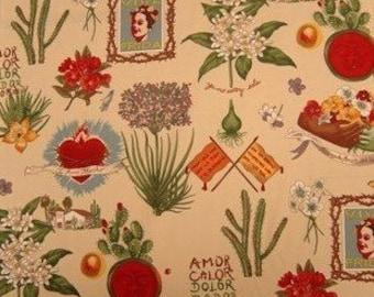 Frida Kahlo's Garden- Alexander Henry Scenes 1 Yard Fabric