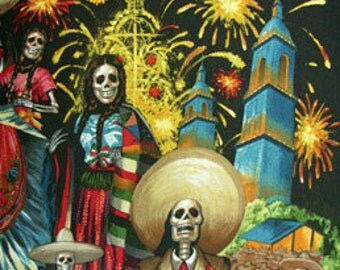 San Marcos - Alexander Henry Mexican Folk 1 Yard Fabric