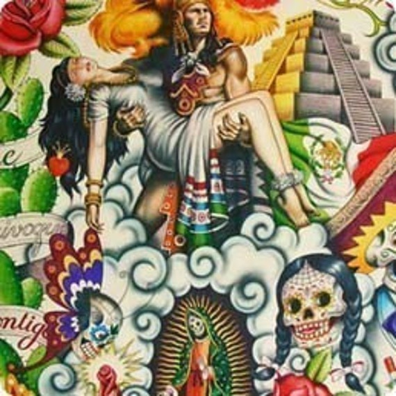 Contigo - Alexander Henry Mexican Folk 1 Yard Fabric
