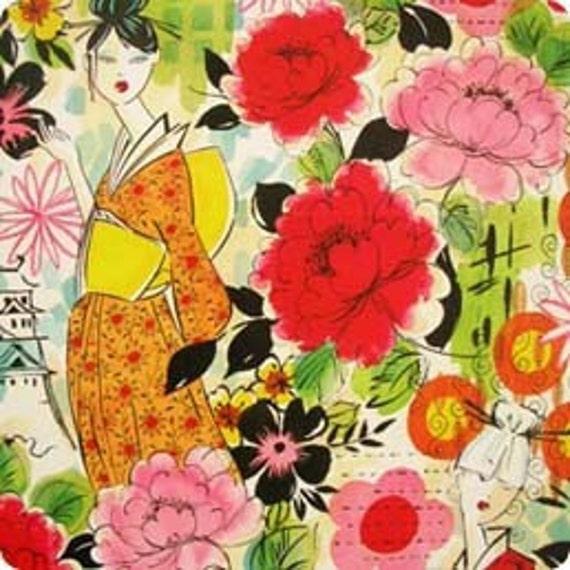 harajuku lady fabric - Alexander Henry Japanese 1 Yard Fabric