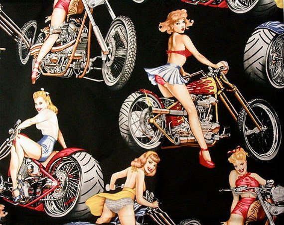 Hot Wheels pin-up fabric - Alexander Henry Scenic 1 Yard Fabric