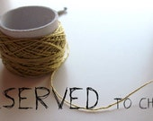 RESERVED ITEM- hand crocheted necklace with vintage buttons (natural, blue, green and mustard) made of cotton thread