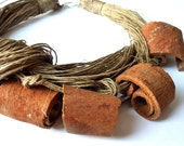 Cinnamon Linen Necklace