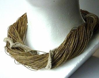 Natural Linen Necklace Macrame