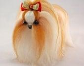 Shih Tzu - OOAK Artist Needle Felted  Dog - Gift