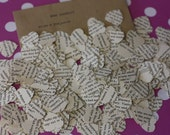 600pcs Wuthering Heights Heart Book Confetti