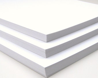 Holiday SALE Cardstock Full Sheets Smooth WHITE Set of 30 Wedding Invitation Supplies Scrapbook Paper