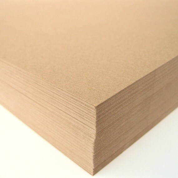 Kraft Smooth Cardstock 30 Full Sheets Wedding Invitation Scrapbook Paper DIY Projects