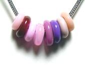 Pink Lampwork Rings