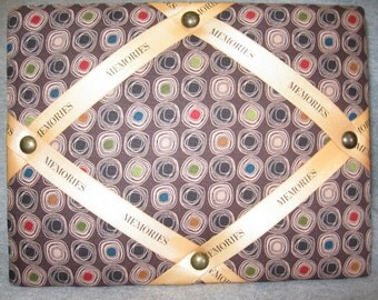 Brown with Circles Photo Frame