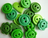 It Ain't Easy Being Green Handmade Buttons