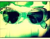 1950s Super Aqua Cat Eye Sunglasses