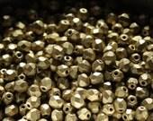 50 pieces of matte metallic aztec gold 4 mm fire polished czech crystal beads (CZ04-02)