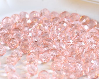 10 pieces of rosaline 8 mm fire polished czech crystal beads (CZ08-48)