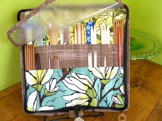 DPN and Crochet Hook Case-Magnolias