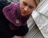 ON SALE Purple Scarf Neckwarmer