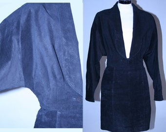 Vintage 80s Cropped Jacket and High Waisted Skirt Set
