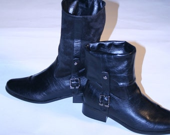 Vintage Black Military Look Boots