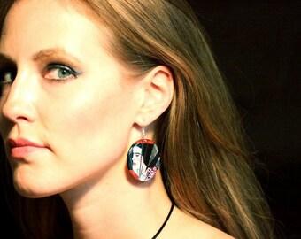 Round Disc Earrings