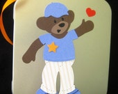Teddy Bear and Wardrobe Handmade Boy Build A Bear on Tin Box with Magnetic Clothes Custom Made for You