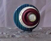Planetarium Vintage Button Brooch