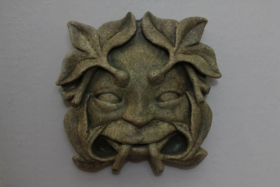 Froud  Pixie Green man Sculpture Wall Hanging  Faerie Woodland  Forest Creature