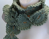 Lace Olive Green Scarf