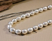 Long Pearl Necklace Chain Fringe Multi Chain Necklace Amy Fine Design June Birthstone