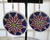 SALE Vintage 70's American Indian  earrings